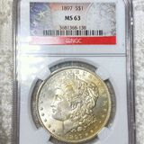 1897-S Morgan Silver Dollar NGC - MS63