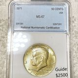 1971 Kennedy Half Dollar NNC - MS67