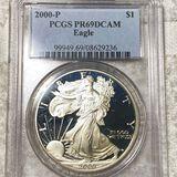 2000 Silver Eagle PCGS - PR69DCAM