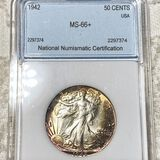 1942 Walking Half Dollar NNC - MS66+