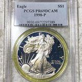 1998 Silver Eagle PCGS - PR69DCAM