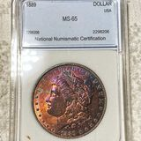 1889 Morgan Silver Dollar NNC - MS65