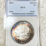 1882-S Morgan Silver Dollar NNC - MS65