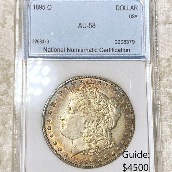 1895-O Morgan Silver Dollar NNC - AU58