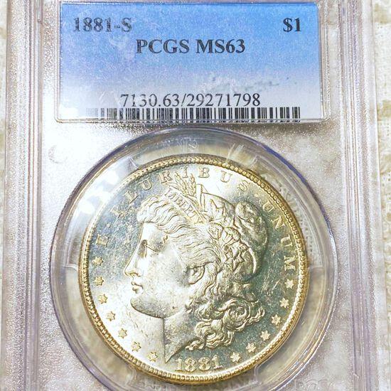 1881-S Morgan Silver Dollar PCGS - MS63