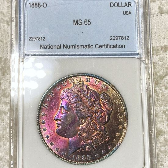 1888-O Morgan Silver Dollar NNC - MS65