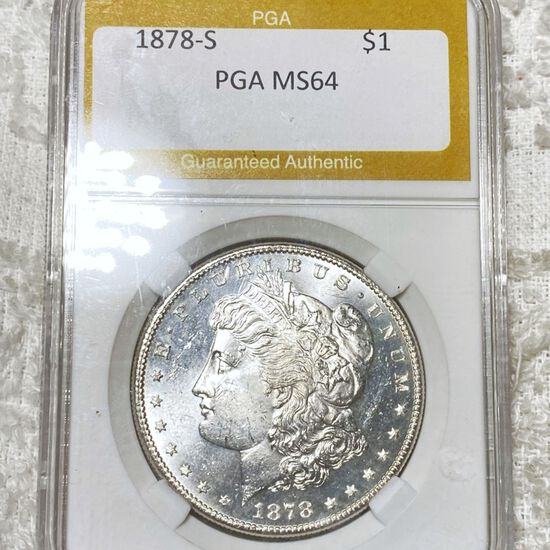 1878-S Morgan Silver Dollar PGA - MS64