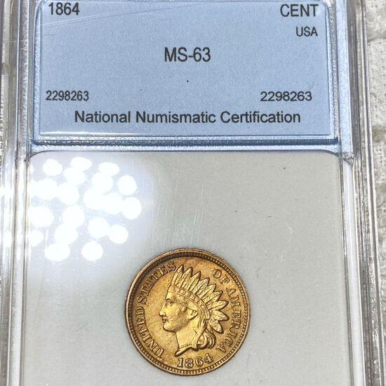 1864 Indian Head Penny NNC - MS63