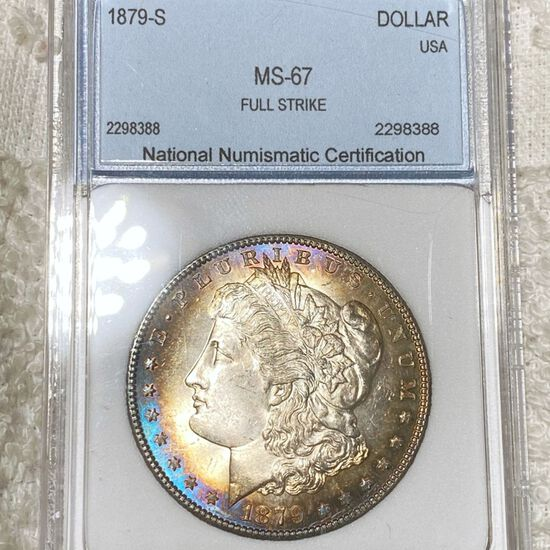 1879-S Morgan Silver Dollar NNC - MS67 FULL STRIKE