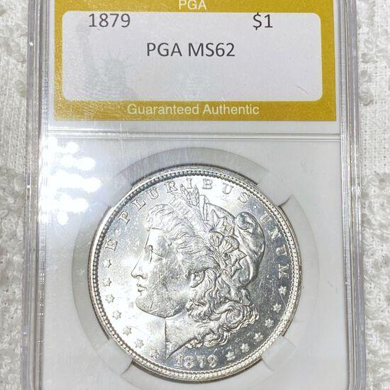 1879 Morgan Silver Dollar PGA - MS62