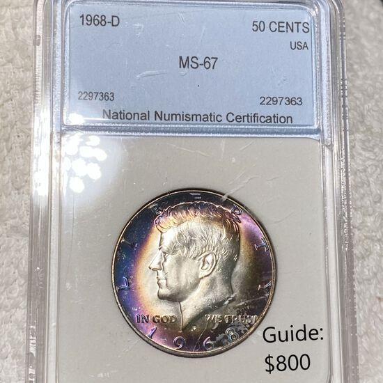 1968-D Kennedy Half Dollar NNC - MS67