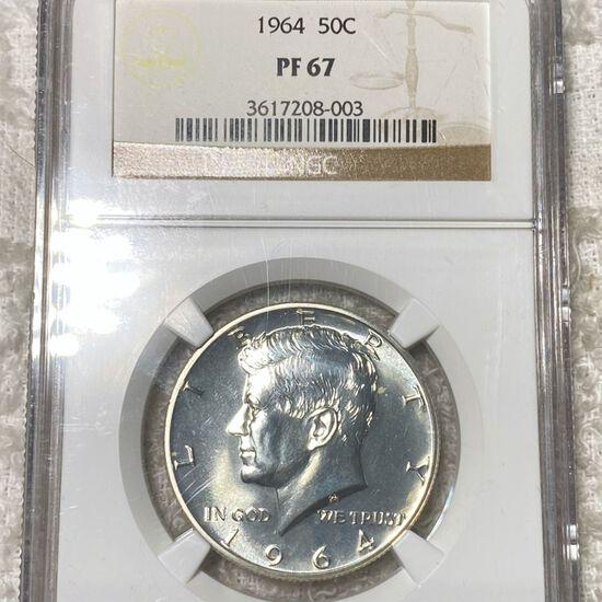 1964 Kennedy Half Dollar NGC - PF67