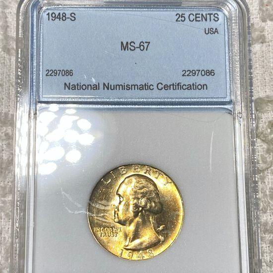 1948-S Washington Silver Quarter NNC - MS67