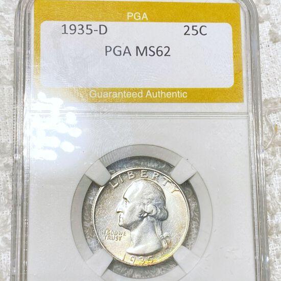 1935-D Washington Silver Quarter PGA - MS62