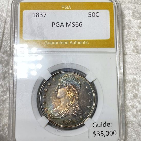 1837 Capped Bust Half Dollar PGA - MS66