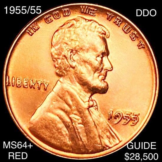 1955/55 DDO Lincoln Wheat Penny CHOICE BU RED