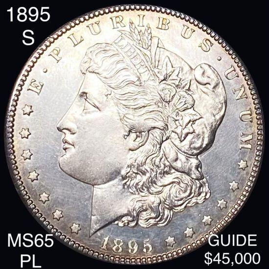1895-S Morgan Silver Dollar GEM BU PL