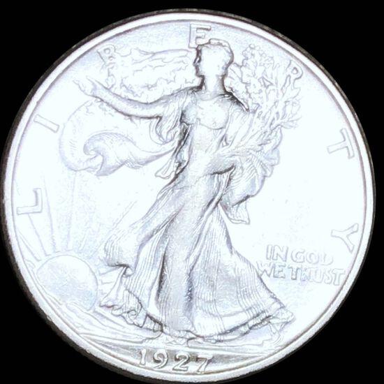1927-S Walking Half Dollar NEARLY UNCIRCULATED