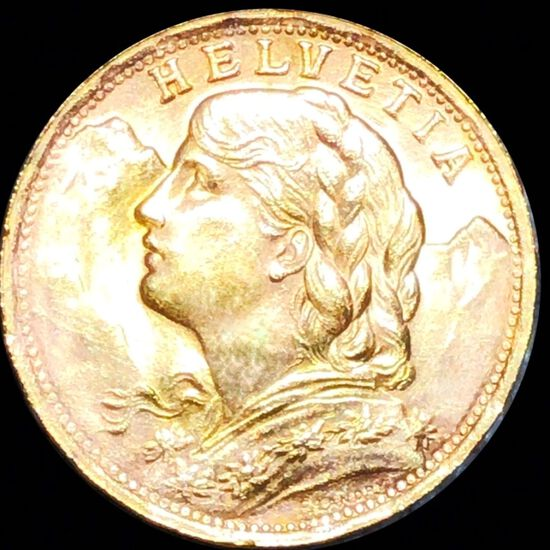1935-B French Gold 20 Francs UNCIRCULATED