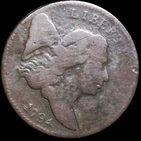 1794 Liberty Cap Large Cent NICELY CIRCULATED