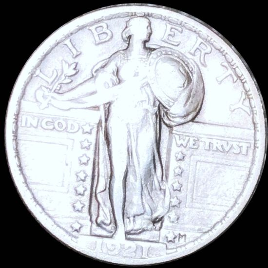 1921 Standing Liberty Quarter LIGHTLY CIRCULATED