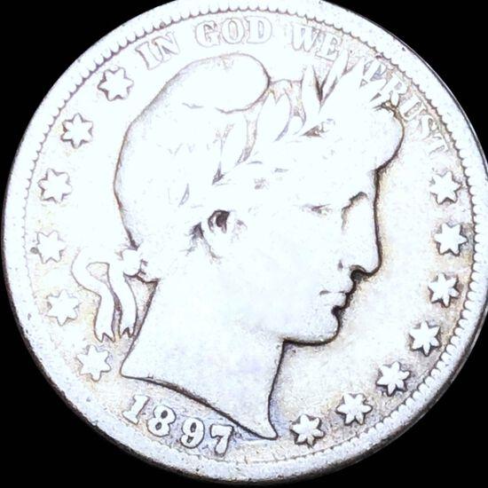 1897-S Barber Half Dollar NICELY CIRCULATED