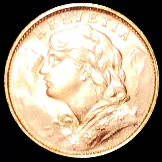 1949-B French Gold 20 Francs UNCIRCULATED