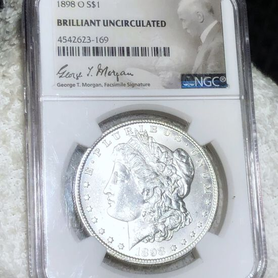 1898-O Morgan Silver Dollar NGC - BRILLIANT UNC