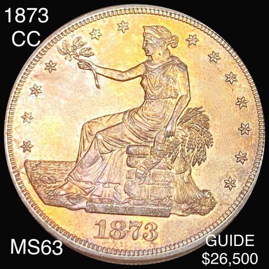 1873-CC Silver Trade Dollar CHOICE BU