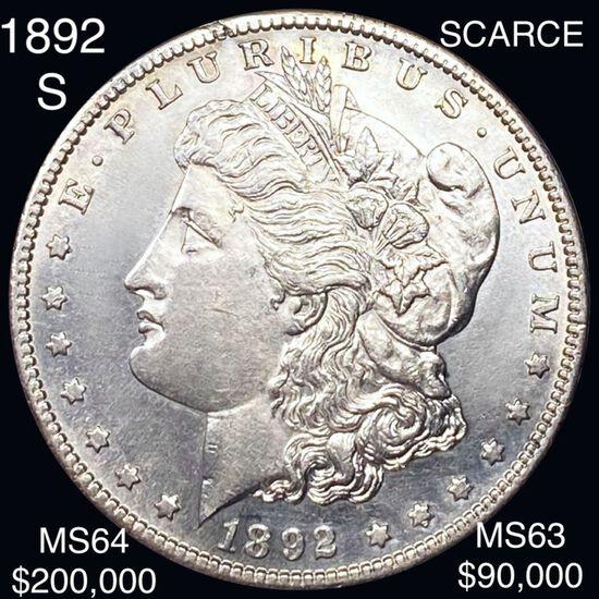 1892-S Morgan Silver Dollar CHOICE BU