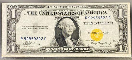 1935 US $1 Gold Seal Bill UNCIRCULATED