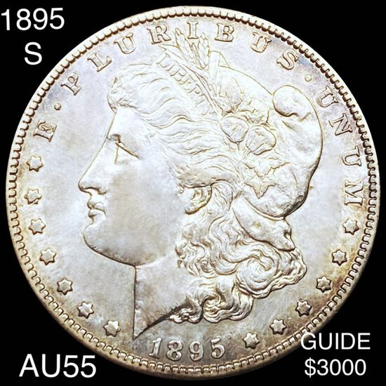 1895-S Morgan Silver Dollar CHOICE AU