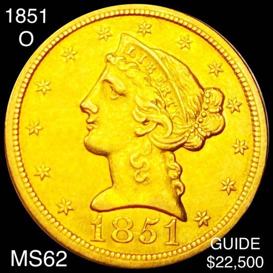 1851-O $5 Gold Half Eagle UNCIRCULATED
