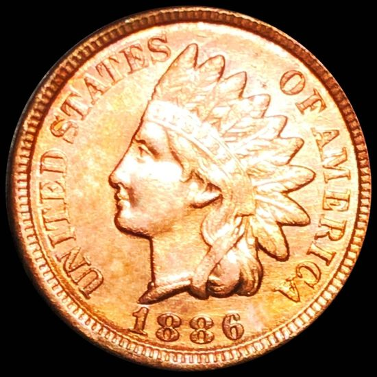 1886 Indian Head Penny CLOSELY UNCIRCULATED