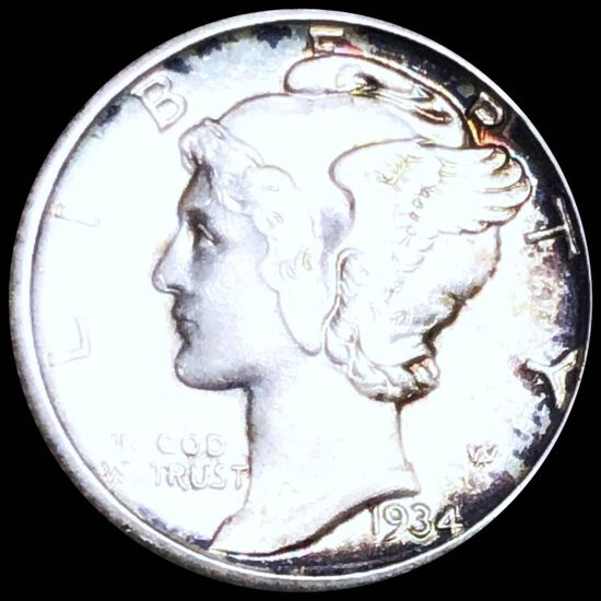 1934-D Mercury Silver Dime UNCIRCULATED