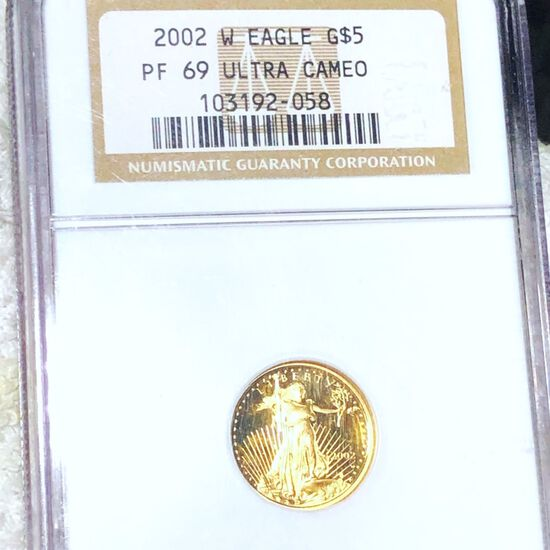 2002-W $5 Gold Half Eagle NGC - PF69ULTCAM 1/10Oz