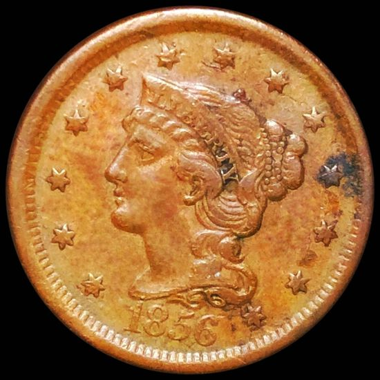 1856 Braided Hair Large Cent LIGHTLY CIRCULATED