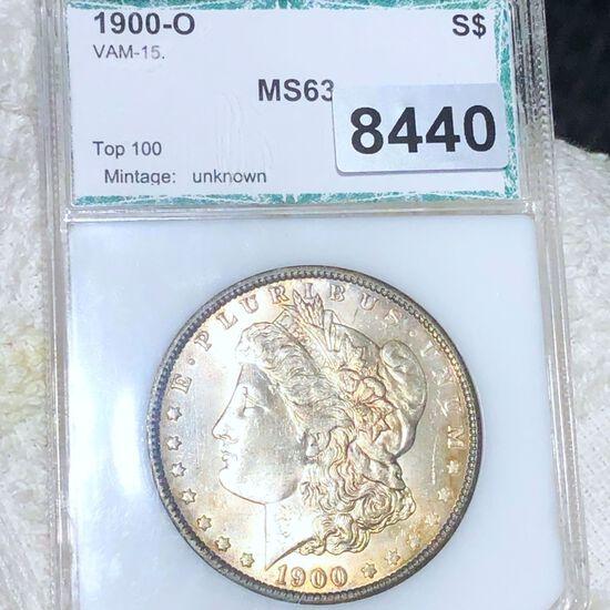 1900-O Morgan Silver Dollar PCI - MS63 VAM-15
