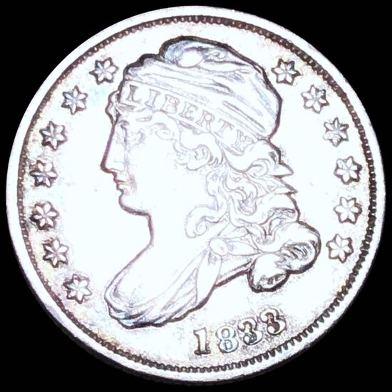 1833 Capped Bust Dime CLOSELY UNCIRCULATED