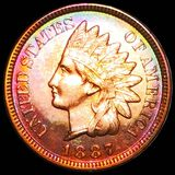 1887 Indian Head Penny CHOICE PROOF