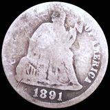 1891-O Seated Liberty Dime NICELY CIRCULATED