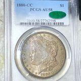 1880-CC Morgan Silver Dollar PCGS - AU 58 CAC