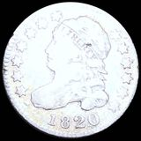 1820 Capped Bust Dime NICELY CIRCULATED
