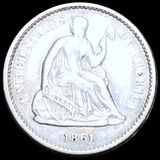 1861 Seated Liberty Half Dime UNCIRCULATED