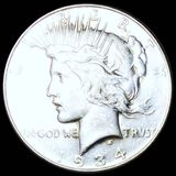 1934 Silver Peace Dollar CLOSELY UNCIRCULATED