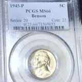 1945-P Jefferson Nickel PCGS - MS66 BENSON