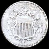 1866 Shield Nickel NEARLY UNCIRCULATED