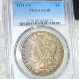 1881-CC Morgan Silver Dollar PCGS - AU58