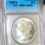1880-S Morgan Silver Dollar ICG - MS 64 DMPL