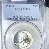 1946-S Washington Silver Quarter PCGS - MS65